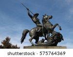 sculpture of a man on horseback ... | Shutterstock . vector #575764369