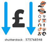 receive pound pictograph with... | Shutterstock .eps vector #575768548
