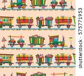 railway train station seamless... | Shutterstock .eps vector #575771953