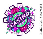 casino party vector game of... | Shutterstock .eps vector #575774494