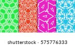 set of seamless decorative... | Shutterstock .eps vector #575776333