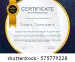 qualification certificate of... | Shutterstock .eps vector #575779228