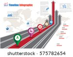 design template  road map... | Shutterstock .eps vector #575782654