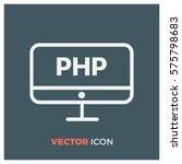 php developer line vector icon | Shutterstock .eps vector #575798683