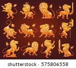 vector set of twelve images of... | Shutterstock .eps vector #575806558