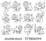 vector set of twelve images of...   Shutterstock .eps vector #575806594