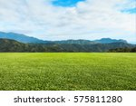 green lawn sky and mountain... | Shutterstock . vector #575811280
