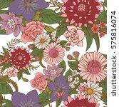 vector seamless floral pattern... | Shutterstock .eps vector #575816074