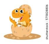 cute baby tyrannosaurus rex... | Shutterstock .eps vector #575828806