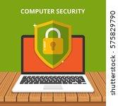 computer security concept.... | Shutterstock .eps vector #575829790