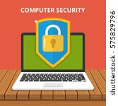 computer security concept.... | Shutterstock .eps vector #575829796