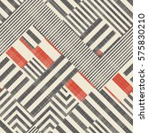 abstract striped geometric... | Shutterstock .eps vector #575830210