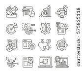 digital marketing icons set in... | Shutterstock .eps vector #575835118