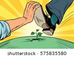 activist to protect nature | Shutterstock .eps vector #575835580