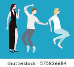 concert people flat composition ... | Shutterstock .eps vector #575836684