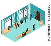 isometric human personnel... | Shutterstock .eps vector #575836690