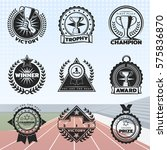 vintage sport rewards labels... | Shutterstock .eps vector #575836870
