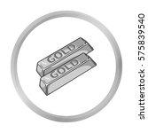 golden bars icon in monochrome... | Shutterstock .eps vector #575839540