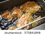fried chicken is fried chicken... | Shutterstock . vector #575841898