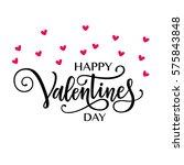 happy valentine's day vector... | Shutterstock .eps vector #575843848