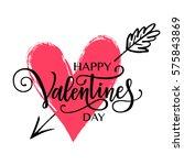 happy valentine's day vector... | Shutterstock .eps vector #575843869