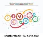teamwork with gear concept.... | Shutterstock .eps vector #575846500