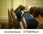 back of the head of business... | Shutterstock . vector #575849614