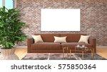 mock up poster frame in... | Shutterstock . vector #575850364