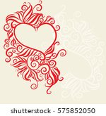 vector  flower background with... | Shutterstock .eps vector #575852050