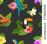 illustration seamless pattern... | Shutterstock . vector #575854990