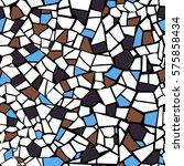 vector abstract seamless mosaic ... | Shutterstock .eps vector #575858434