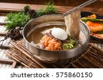 milmyeon chilled wheat noodle... | Shutterstock . vector #575860150