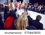 watchers making photos on...   Shutterstock . vector #575865850