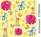 fun zoo. children's picture....   Shutterstock .eps vector #575869444