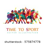 color sport background.... | Shutterstock .eps vector #575874778