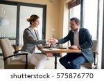 great deal  business deal closed | Shutterstock . vector #575876770