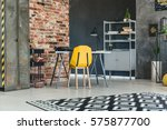 loft interior with brick wall ... | Shutterstock . vector #575877700