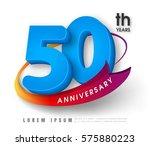 anniversary emblems 50...   Shutterstock .eps vector #575880223