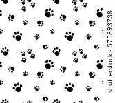 paw print seamless pattern...   Shutterstock .eps vector #575893738
