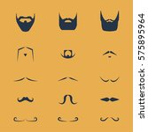 set of vector mustache and... | Shutterstock .eps vector #575895964