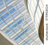 windows in the roof of business ... | Shutterstock . vector #575903014