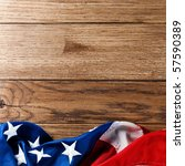 flapping flag usa with wave   Shutterstock . vector #57590389