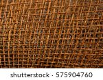 grunge brown rusty iron network ... | Shutterstock . vector #575904760