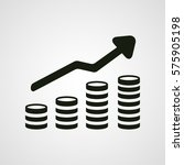 revenue growth increasing graph ... | Shutterstock .eps vector #575905198