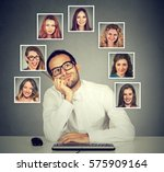 handsome young man in glasses... | Shutterstock . vector #575909164