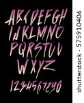 graphic font for your design.... | Shutterstock .eps vector #575910406
