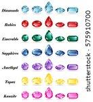 seven sets of precious stones... | Shutterstock .eps vector #575910700