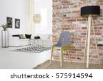 trendy loft with brick wall and ... | Shutterstock . vector #575914594