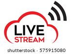 live stream logo vector. vector ... | Shutterstock .eps vector #575915080