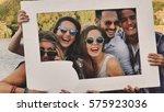 students having fun enjoying... | Shutterstock . vector #575923036